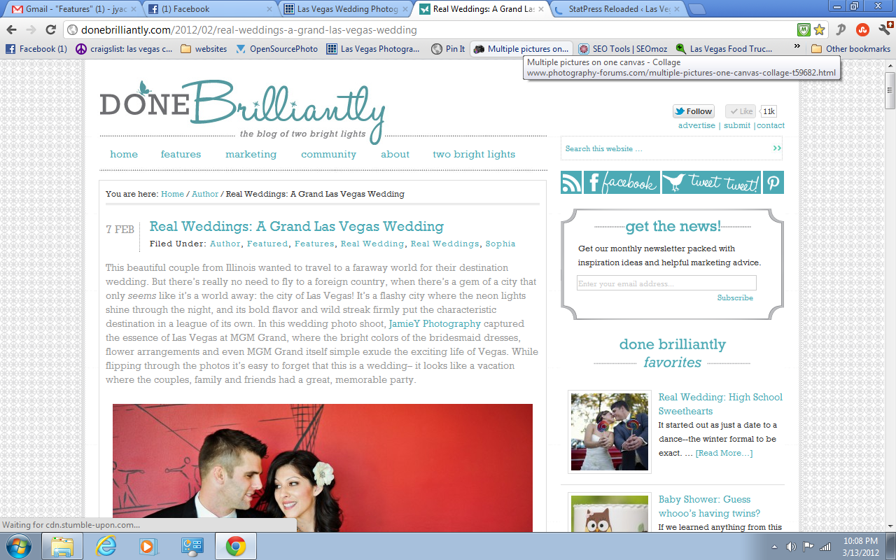 wedding featured on done brilliantly