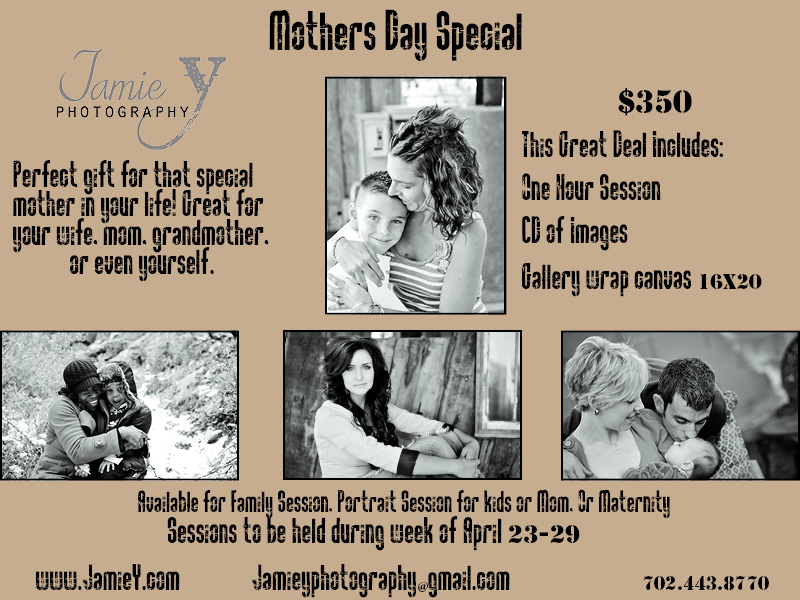 las vegas mothers day photography special