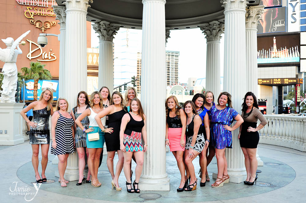 Bachelorette Party In Las Vegas|Lindsey & Her Girls|Las Vegas Portrait Photographer