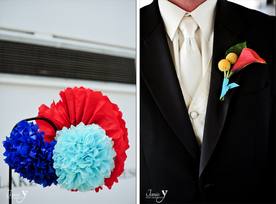 red and tiffany blue wedding decorations