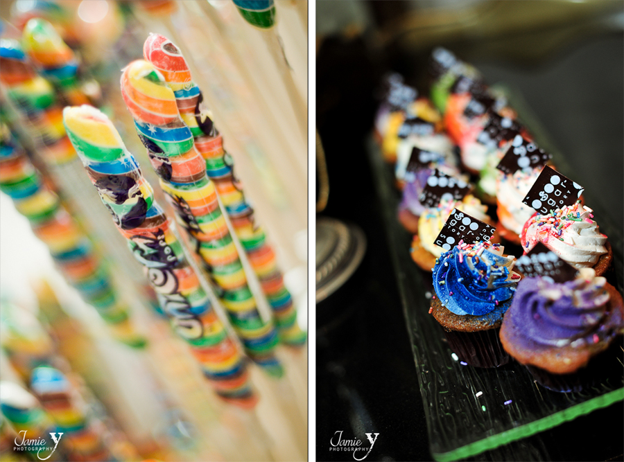 cupcakes from wedding at the sugar factory in las vegas nevada