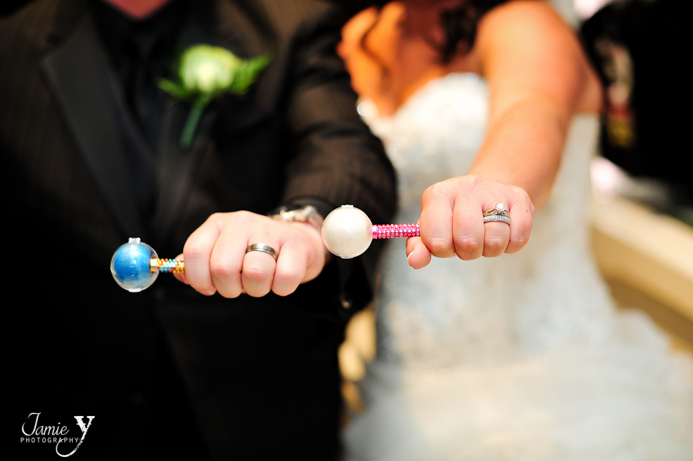wedding ring picture with couture pops from sugar factory las vegas