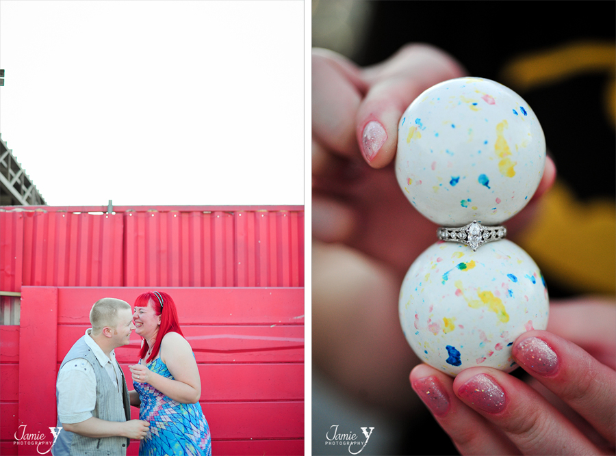 cool wedding ring picture with candy
