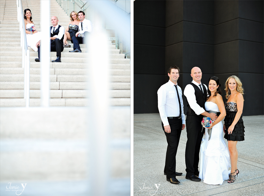 small bridal party portraits fun outdoors and edgy