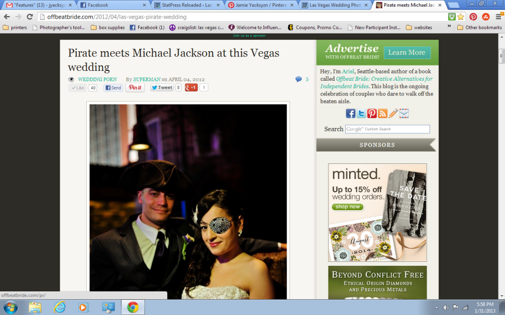 Features & Publications | Thanks To My Awesome Clients | Premier Las Vegas Wedding Photographer