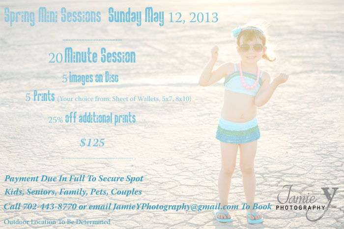 Spring Mini Sessions | May 12, 2013 | Las Vegas Portrait Photography