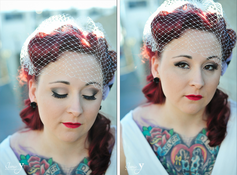 wedding photography bride with tattoos