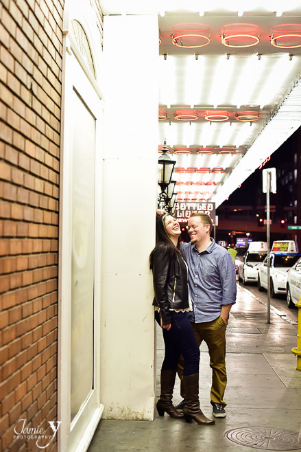 Downtown Las Vegas Engagement | Brent & Leigh