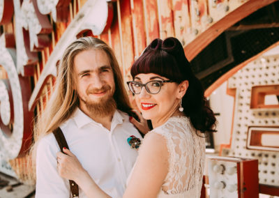 trash the dress at neon museum