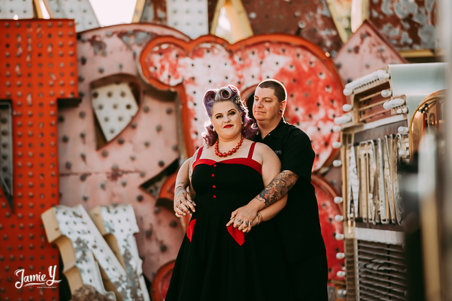 Rockabilly Engagement Photos | Las Vegas