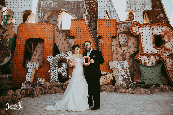Anniversary Photo Shoot Neon Museum | Courtney & David