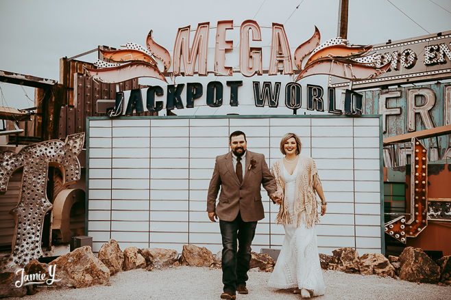 Neon Sign Museum Vegas Wedding | Elizabeth & Branum