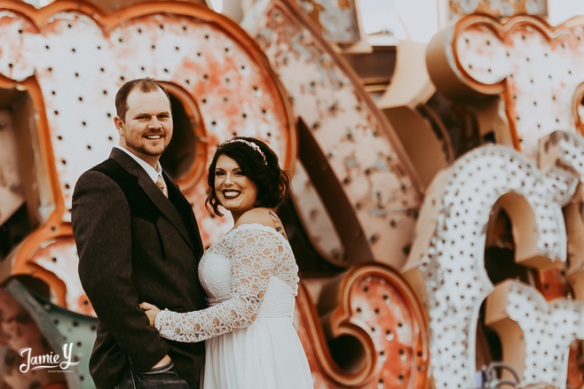 Getting Married At  The Neon Museum | Elaina & Calvin
