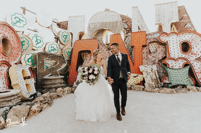 Wedding At Neon Museum Las Vegas